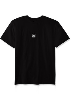 Obey Men's Half Face Basic Crew Neck Tee