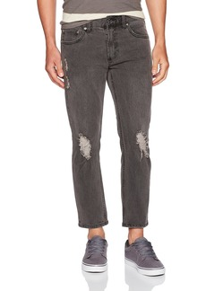 Obey Men's Juvee Skinny Fit Flooded Denim Pant II