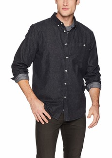Obey Men's KEBLE Denim Long Sleeve Woven Shirt