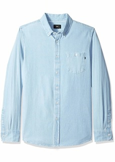 Obey Men's KEBLE Denim Woven Long Sleeve Shirt