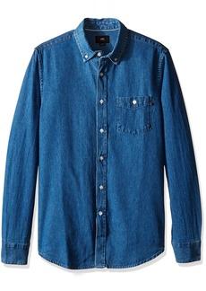 Obey Men's Keble Woven Long Sleeve Shirt