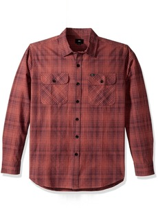 Obey Men's Knuckle Long Sleeve Woven Shirt  L