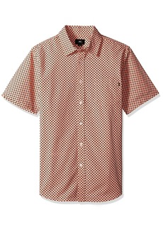 Obey Men's Landri Short Sleeve Button up Woven  XXL