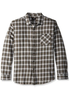 Obey Men's Langston Long Sleeve Woven Shirt  S