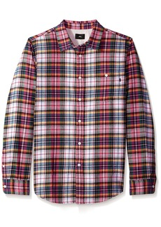 Obey Men's Lauder Long Sleeve Woven Shirt  XL