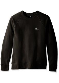 Obey Men's Lofty Chain Stitch Crew Neck Fleece Sweatshirt