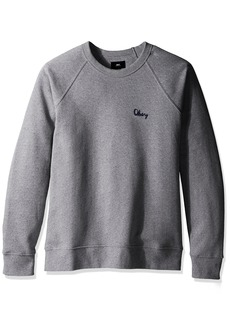 OBEY Men's Lofty Chain Stitch Crew Neck Fleece Sweatshirt
