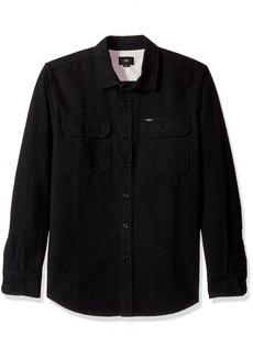 Obey Men's Minor Long Sleeve Woven Shirt  L
