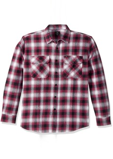 OBEY Men's Mission Long Sleeve Woven Shirt  M