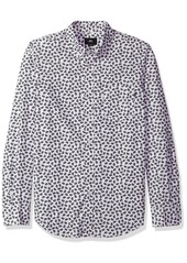Obey Men's Monty Slim Fit Woven Long Sleeve  XL