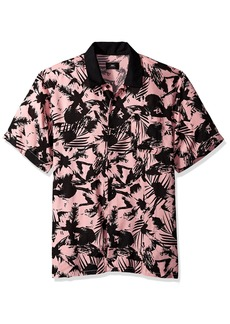 OBEY Men's NATE Short Sleeve Button UP Woven  XXL