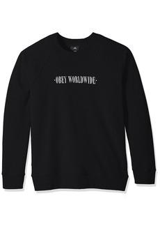 Obey Men's New Times Lofty Creature Comforts Crew Neck Sweatshirt  S