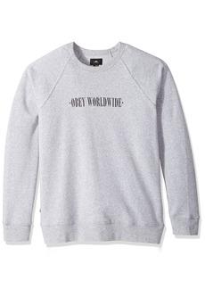 Obey Men's New Times Lofty Creature Comforts Crew Neck Sweatshirt  XL