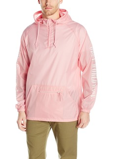 OBEY Men's New Times Worldwide Anorak Pullover Hood