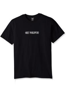 Obey Men's New Times Worldwide Regular Fit Basic T-Shirt  XL