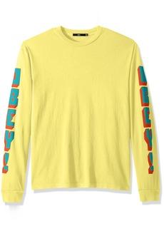 Obey Men's New World 2 Long Sleeve Crew Neck T-Shirt  M