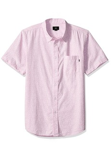 Obey Men's Norris Short Sleeve Button UP Woven  XL