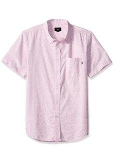Obey Men's Norris Short Sleeve Button UP Woven  XL