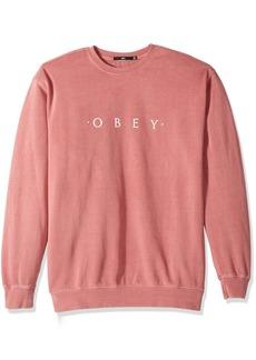 OBEY Men's Novel Basic Crew Neck Fleece Sweatshirt  2XL