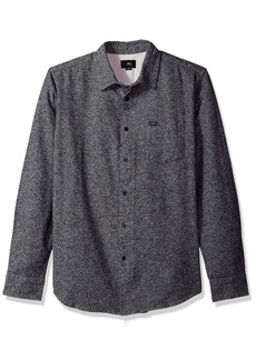 Obey Men's Numbers Long Sleeve Woven Shirt  S