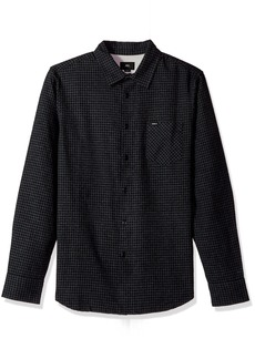 Obey Men's Outsider Long Sleeve Woven Shirt  M