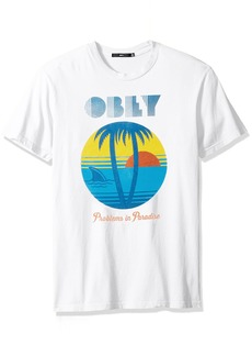 Obey Men's Problems in Paradise Crewneck Tshirt  XL