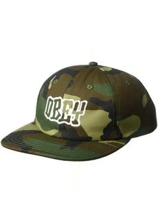 Obey Men's Runnin 6 Panel Snapback Hat  O/S