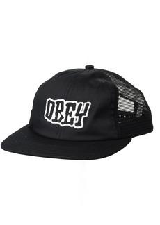 Obey Men's Runnin Trucker 6 Panel Hat  O/S