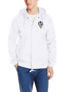 OBEY Men's Smash It up Hooded Coaches Jacket