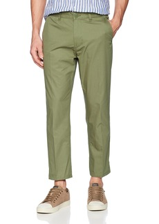 OBEY Men's Straggler Light Flooded Pant Army