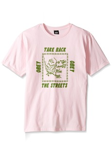 Obey Men's Take Back The Streets Regular Fit T-Shirt  2XL