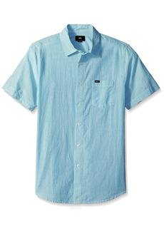 Obey Men's Towne Short Sleeve Button up Woven  L