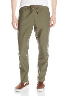Obey Men's Traveler Slub Elastic Waistband Twill Relaxed Utility Pants
