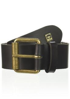 Obey Men's Vandal Leather Belt black