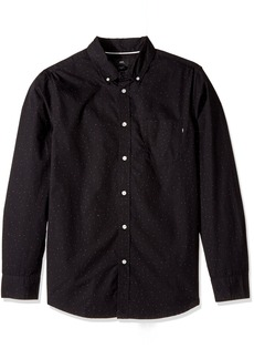 Obey Men's Voyage Slim Fit Woven Long Sleeve  S