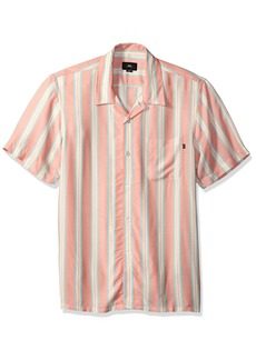 OBEY Men's York Short Sleeve Button UP Woven  L