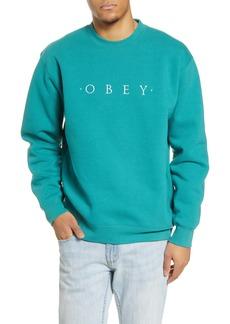 Obey Nouvelle II Embroidered Crewneck Sweatshirt