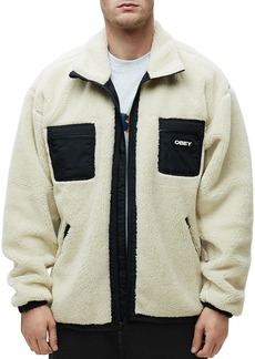 OBEY Out There Regular Fit Sherpa Jacket