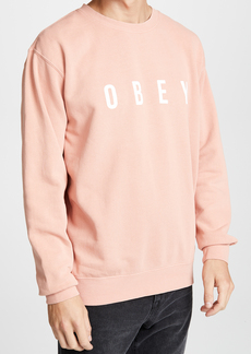 Obey Pigment Fleece Crewneck Sweatshirt