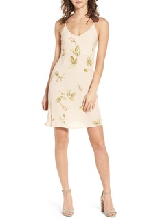Obey Sinclair Floral Print Slipdress