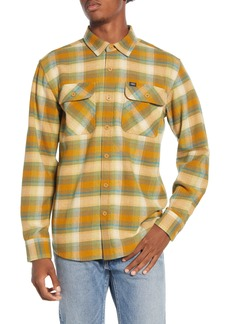 Obey South Pass Plaid Button-Up Flannel Shirt