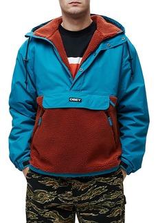 OBEY Splits Sherpa Anorak Jacket