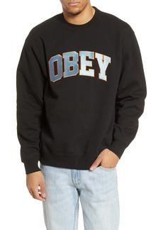 Obey Sports II Logo Crewneck Sweatshirt