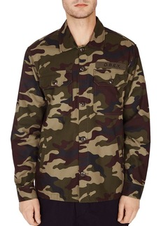OBEY Station Camouflage-Print Shirt Jacket