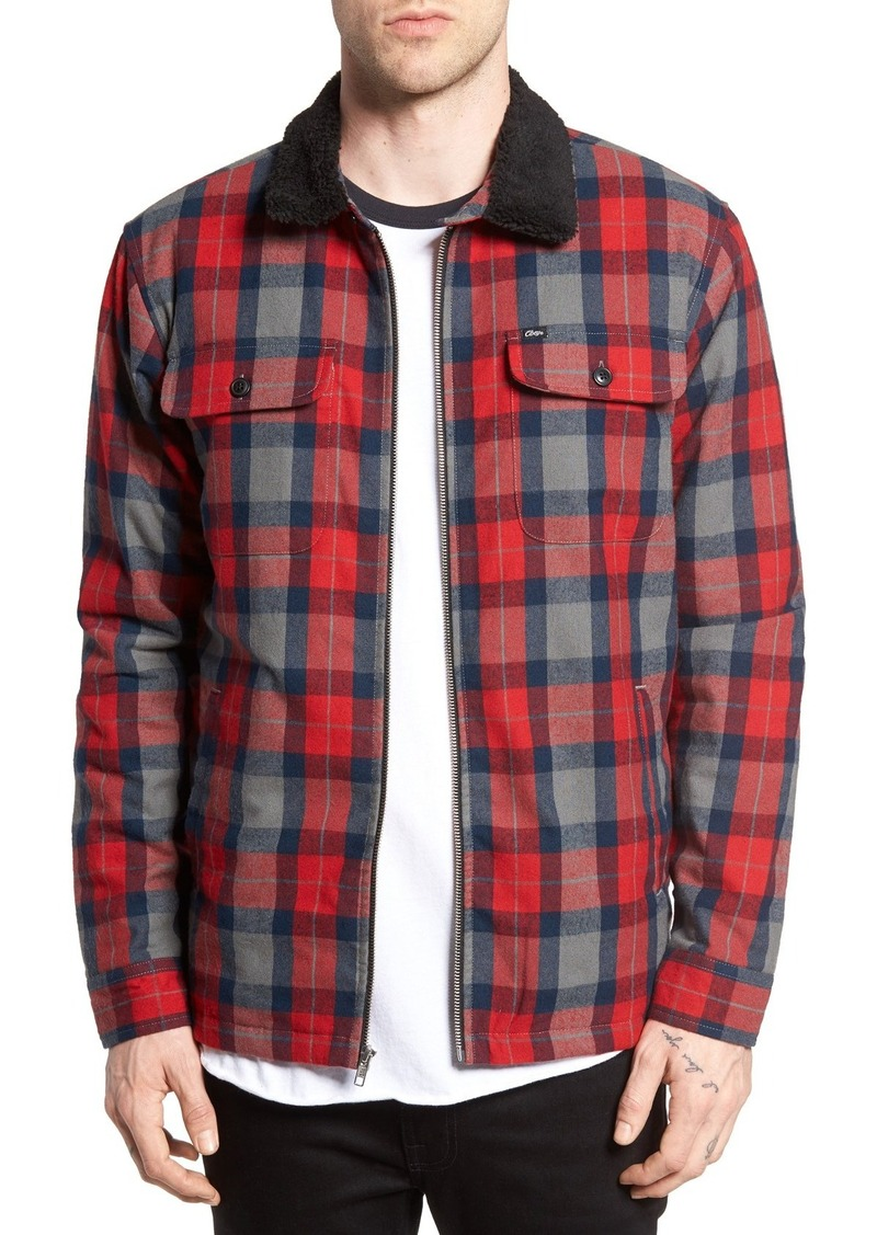 Obey Trailer Quilt Lined Flannel Jacket