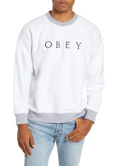 Obey Trophy Reverse Fleece Crewneck Sweatshirt