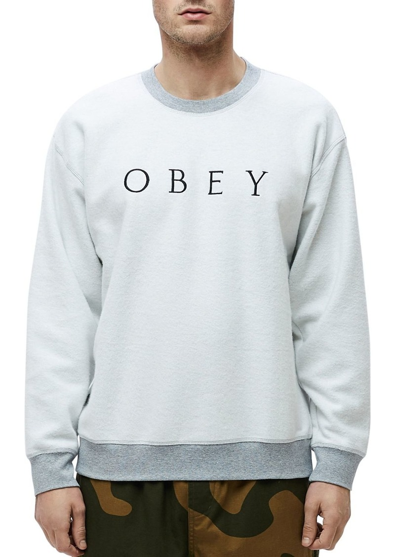 OBEY Trophy Reversed-Fleece Sweatshirt