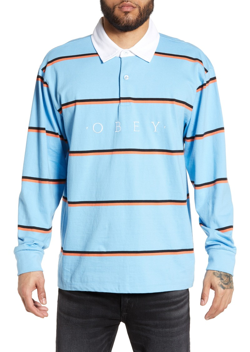 Obey Washer Classic Embroidered Long Sleeve Polo