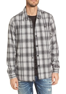 Obey Whittier Plaid Flannel Shirt Jacket