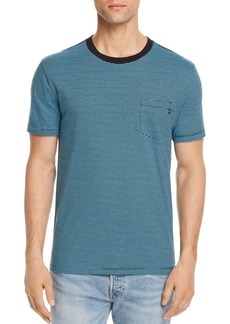 OBEY Wisemaker Striped Pocket Crewneck Tee
